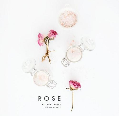 DIY Pink Himalayan Salt Scrub For Hands photo