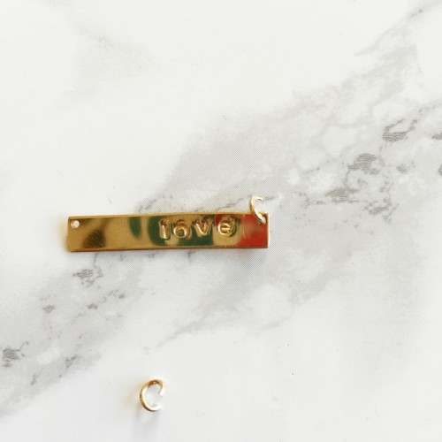 DIY Rose Quartz Pendant Necklace With A Stamp