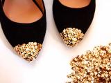 sequin toe flats