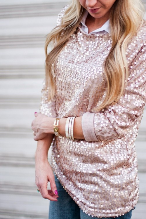 10 DIY Sequin Clothes, Shoes And Accessories For Winter Holidays