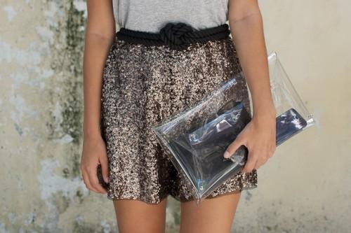 sequin shorts (via apairandasparediy)