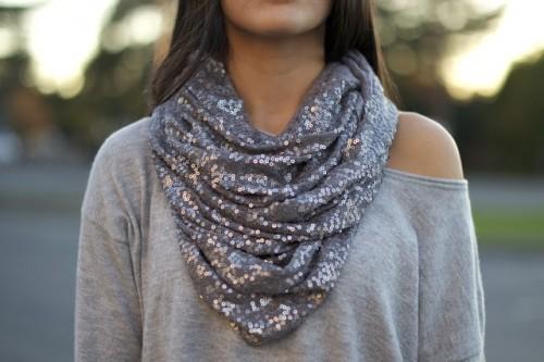 sequined scarf (via restylerestorerejoice)