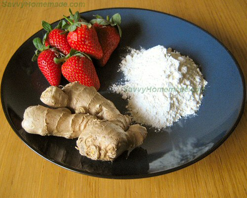 ginger and strawberry body wrap