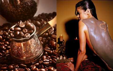 coffee and white clay slimming wrap