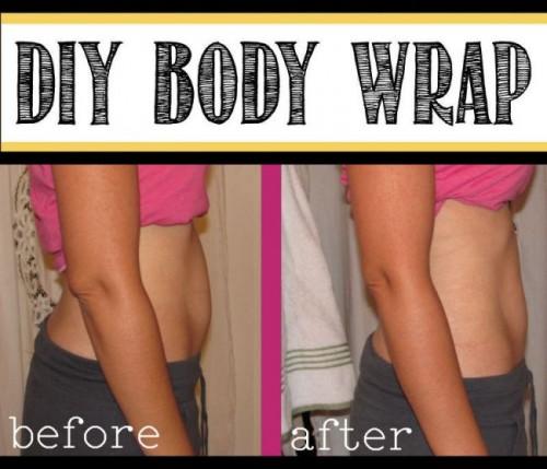 easy homemade body wrap (via iheartnaptime)
