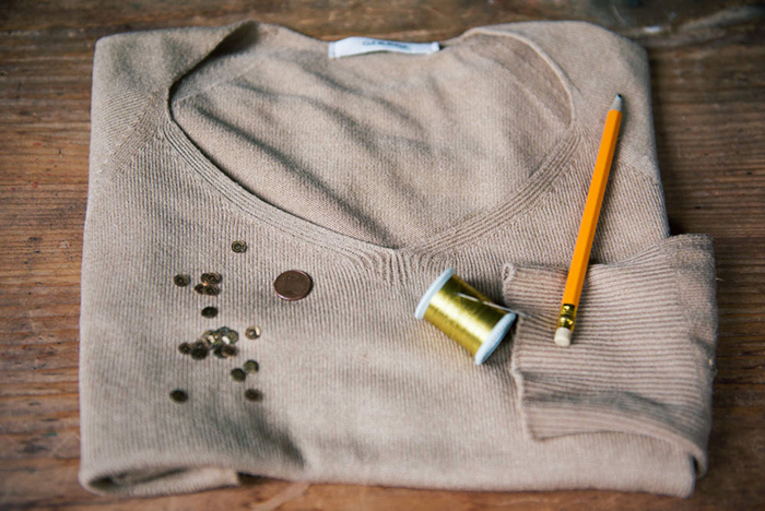 Picture Of diy sparkly sweater restyle  2