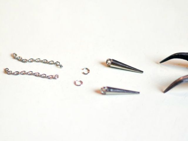 Picture Of diy spike earrings for parties  3