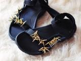 diy-spiky-embellished-sport-sandals-8