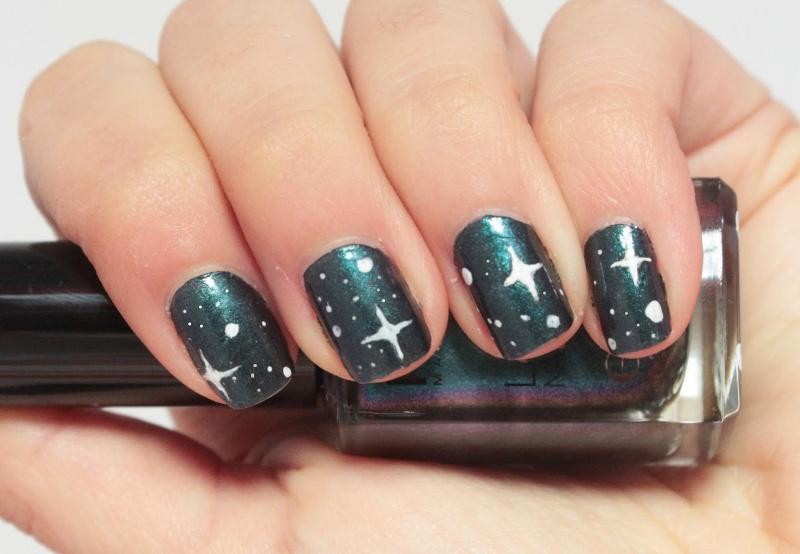 Diy starry sky nail art 2 Styleoholic