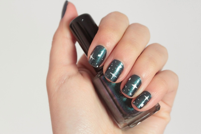 Picture Of diy starry sky nail art  3