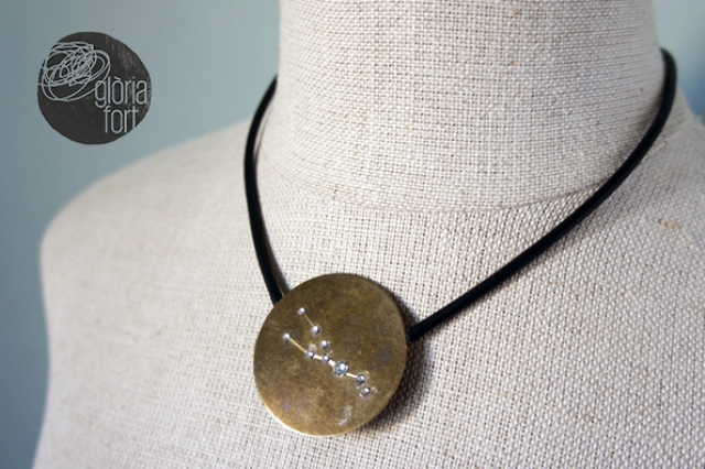 Picture Of diy statement constellation necklace to rock  3