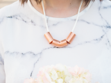 copper piping necklace