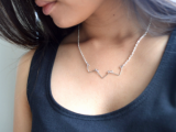 chevron wire necklace