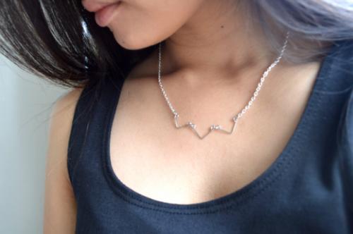 chevron wire necklace