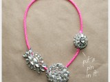 statement brooch necklace