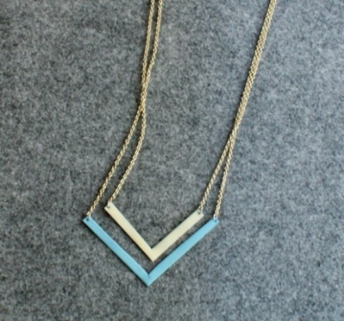 chevron necklace (via styleoholic)