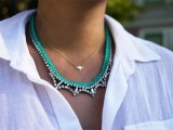 braided rhinestone necklace