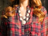 painted rhinestone necklace