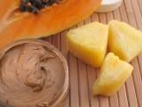 exfoliating papaya and pineapple face mask