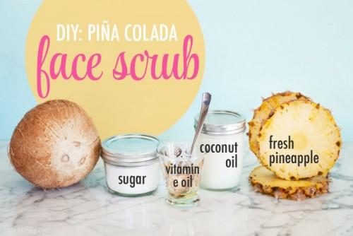 pina colada face scrub (via styleoholic)