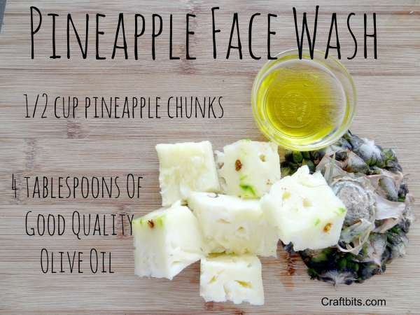 soothing pineapple face wash