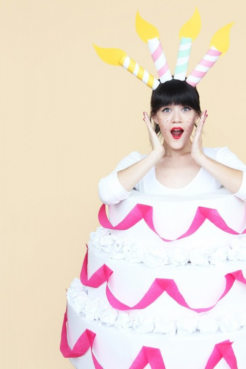 DIY Three Tiered Cake Halloween Costume
