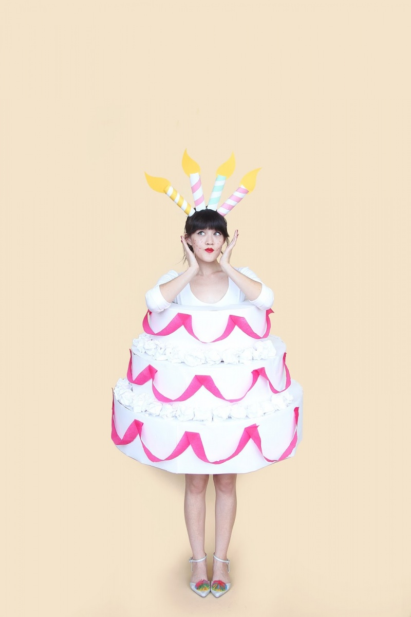 Picture Of diy three tiered cake halloween costume  3
