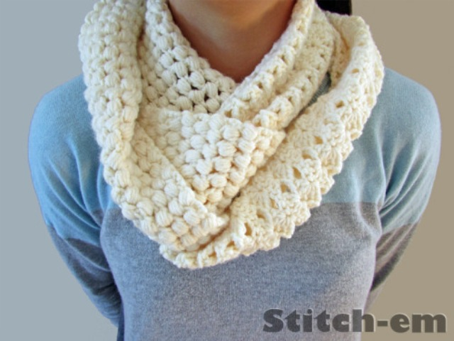 Picture Of diy two textured crochet scarf to make  1