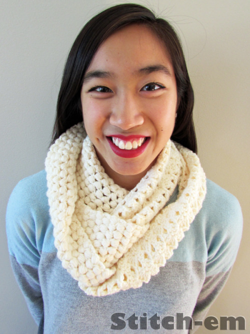 DIY Two Textured Crochet Scarf To Make