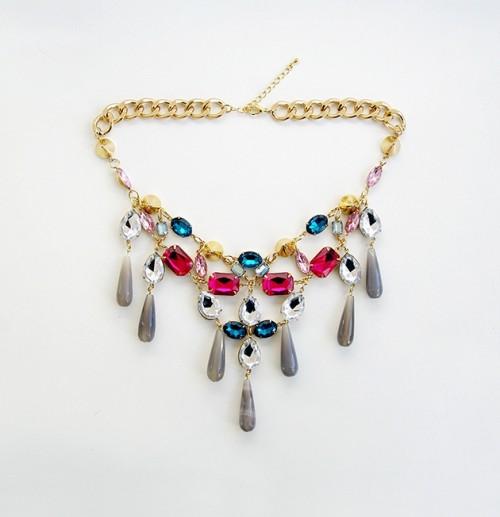 DIY Ultimate Statement Gemstone Necklace
