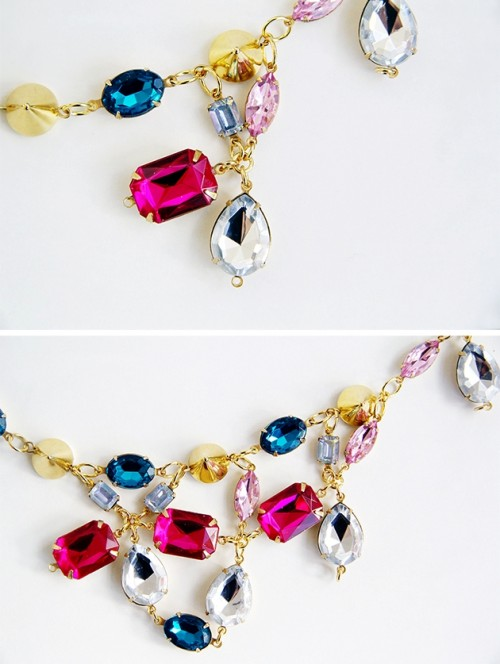 DIY Ultimate Statement Gemstone Necklace