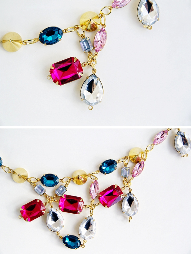 Picture Of diy ultimate statement gemstone necklace  5