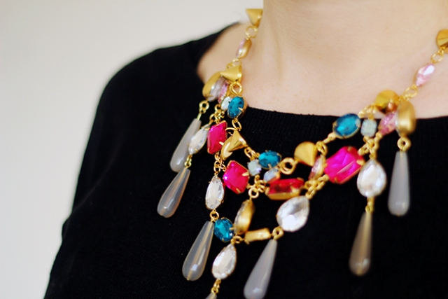 Picture Of diy ultimate statement gemstone necklace  7
