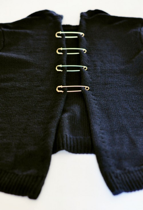 DIY Versace Inspired Open Back Sweater