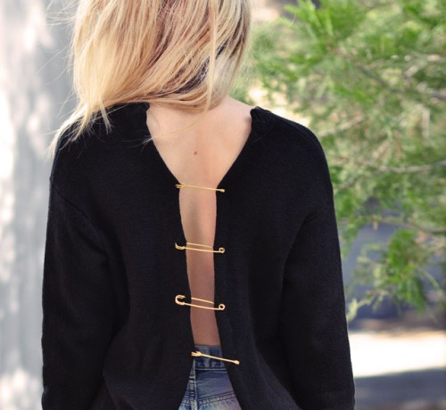 DIY Versace Inspired Open Back Sweater