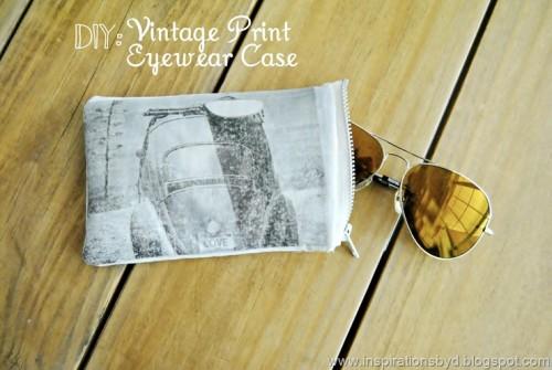 DIY Vintage Print Eyewear Case