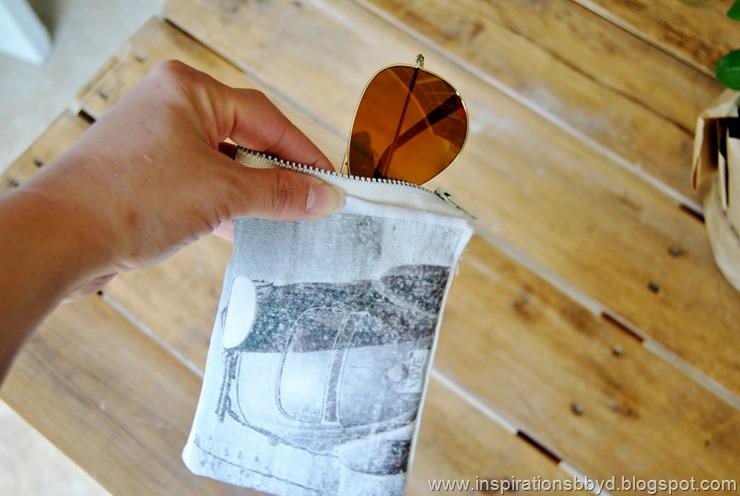 Picture Of diy vintage print eye wear case  6