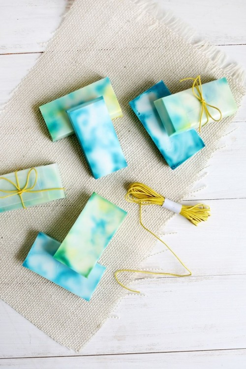 DIY Watercolor Tie Dye Soap To Make
