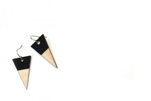 DIY Wood Veneer Earrings With Scrapbook