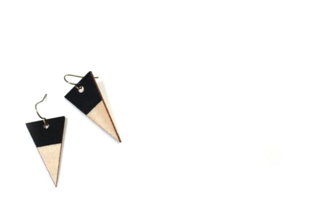 Picture Of diy wood veneer earrings with scrapbook  1