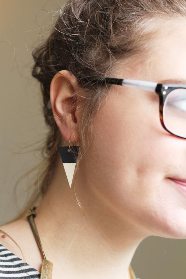 Picture Of diy wood veneer earrings with scrapbook  5