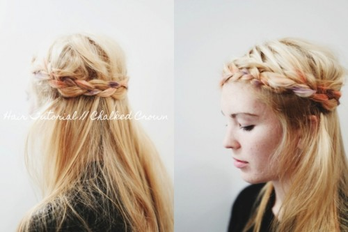 Easy And Cheery DIY Chalked Crown