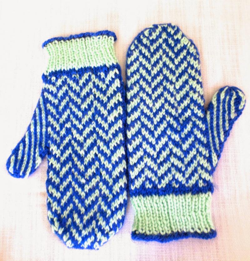 herringbone mittens