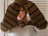 old swweater into a pair of mittens