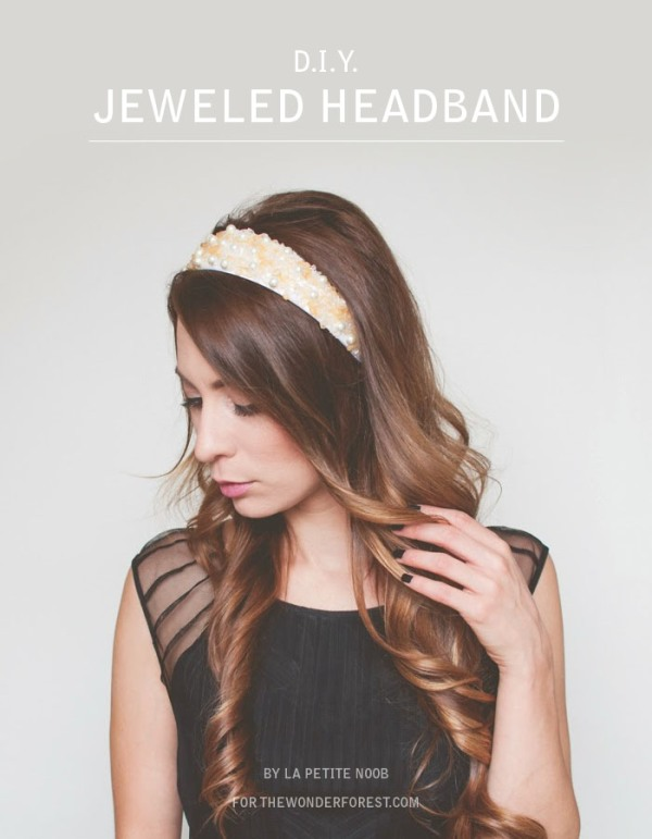 Picture Of easy and lovely diy jeweled holiday headband  1