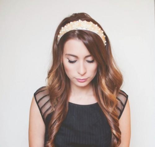 Easy And Lovely DIY Jeweled Holiday Headband