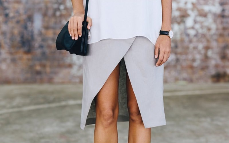 Picture Of easy and stylish diy split wrap skirt  2