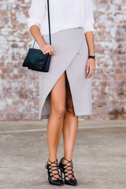 Easy And Stylish DIY Split Wrap Skirt