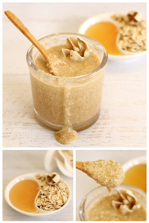 oatmeal honey face scrub (via dabblesandbabbles)