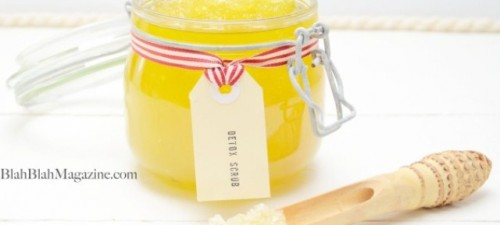 lemon body scrub (via shelterness)